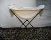 Vintage 1950's Rolling Laundry Cart