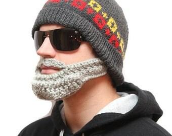 Hats with beards - Crochet beard, Beard beanie, Beard Hat, beard head, beardhead, knitted beard, crochet beard hat, beanie beard, beard cap