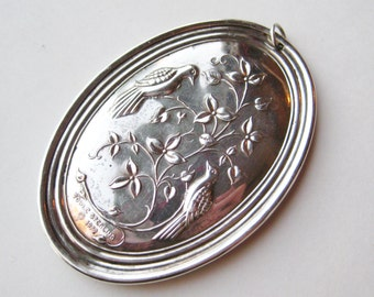 Vintage 1972 Towle Sterling Silver Two Turtle Doves Christmas Tree Ornament