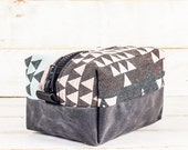 Dopp Kit | Triangles + Charcoal