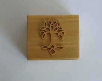 Handcrafted Celtic Tree of Life Box
