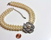 VCLM  Pearl  Chunky Statement Necklace # 270