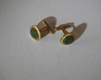 Green and Gold Decorative Cufflinks
