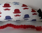 Catnip Mouse - Bowler Hats and Moustaches design- Cat Toy