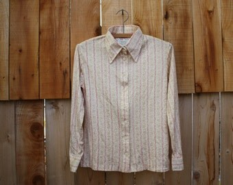 Vintage Blouse By Currants, By Jeri-Jo, Excellent Vintage Condition, Very Stylish, 100% Nylon