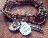 Color your World: Versatile crocheted necklace / bracelet / belt / headband