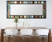 "Reclaimed Wood Mirror - 70x26 - Leaner Mirror - Floor Mirror - ""Reclaimed Reflection""- Modern Wood Wall Art- Reclaimed Wood Art"