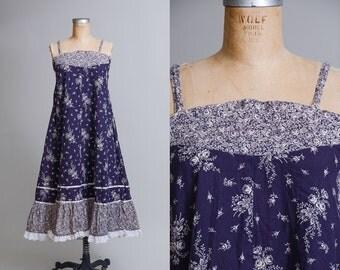 70s Gunne Style Festival Dress Hippie Handmade Prairie Dress