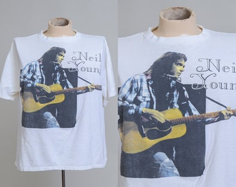 90s Neil Young Tour Hippie Rock American Legend Rock T Shirt