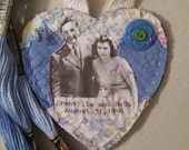 Custom Fabric Heart for Donna