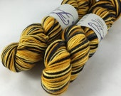 Oops, a frayed ply! Be Steeler my Heart: Self Striping on Bountiful 2 worsted weight Yarn