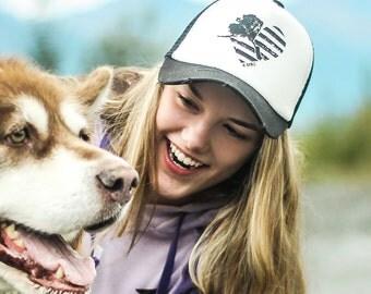 Alaska Heart Trucker Hat