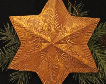 Antique German Dresden Two-Dimensional Star Christmas Ornament