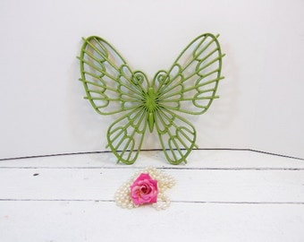 Vintage Upycled Butterfly Eden Green Nursery Garden Decor