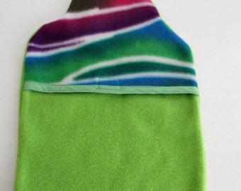 Hot Water Bottle Cover, Lime Green Fleece