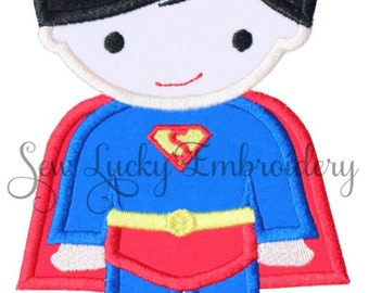 Superboy Applique Embroidered Patch , Sew or Iron on