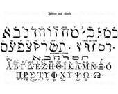Hebrew Greek Alphabet Clip Art Vintage Typography Letters Iron On Transfer Digital Download PNG JPG Image