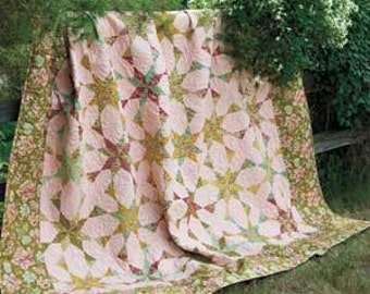 Celestial Waltz quilt pattern. 90 1/2'' x 90 1/2'' BEGINNER FRIENDLY pattern only 2.99