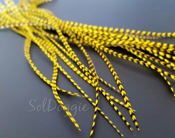 Yellow Grizzly Feathers Craft Supplies Short Feathers DIY Jewelry Supplies Yellow Craft Feathers DIY Supplies - 18