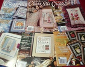 For the Love of Cross Stitch Magazine, 6 issues Full Year 2000, Leisure Arts