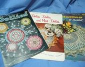 Vintage Crochet Books, Clark's no. 324, Star no. 151, 120, Doilies