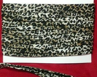 3 yds Jaguar Animal Print 1/2 Inch Double Fold Bias Binding Tape