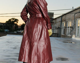 Vintage Etienne Aigner Leather Trench