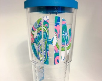 Monogram Tervis- Personalized Tervis Tumbler decals -Custom Tervis - Tervis Monogram -  Gifts - Holidays - Birthday - Party Favors