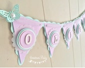 Butterfly Baby Banner, Butterfly Baby Shower, Lavender Baby Shower Decor, Mint Baby Shower Decor, Pastel Baby Banner