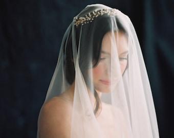 Cathedral Drop Veil, Wedding Veil, Bridal Veil, Ivory Wedding Veil, Off White Bridal Veil -Style 2116