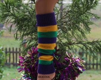 Mardi Gras Leg Warmers Child 15 inches