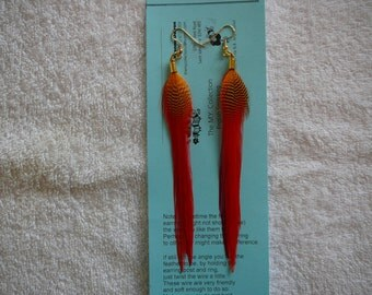 Soft Look White Feather Earings ...............The MyCollection2
