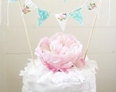"Fabric Cake Bunting- ""Dimples in the Garden"""
