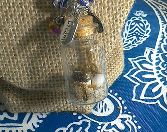 Beach In A Bottle Necklace Plus Charms