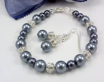 Bridesmaid Gift, bridesmaid bracelets and Bridesmaid earrings, Set of 3,4,5,6,7,8,9, bridesmaid jewelry weddings Party,bracelet and earrings