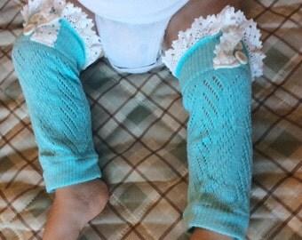 baby girl leg warmers lace legwarmers leg warmers ivory knit lace trim legwarmers photo prop baby legwarmers