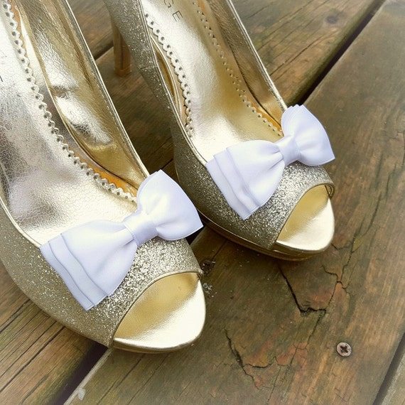 Bridal Shoe Clips, MANY COLORS, Wedding Shoes Accessories, Satin Bows, Satin Shoe Clips for Wedding Shoes, Bridal Shoes, Womens Shoes