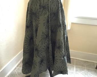 1950's dress skirt - Vintage Taffeta 50s skirt with Starburst Flocking, M L - It's Atomic Skirt