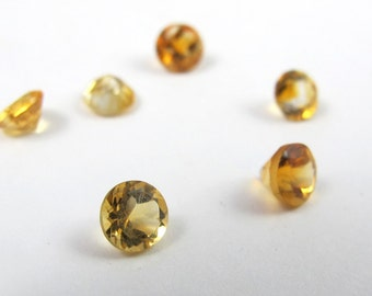 Semi Precious Citrine, 4mm, Stones for Setting, Tube Setting, DIY Jewelry