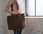 Leather Tote Bag Hand Sti...