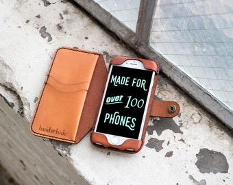 iPhone 7 Leather Convertible Wallet Case / iPhone 7 case / iPhone 7 wallet / leather phone case / leather iphone case / iphone 7 cover