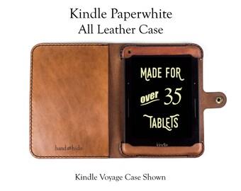 Kindle Paperwhite Case, All Leather - No Plastic - Free Inscription
