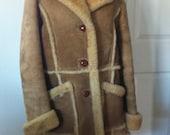 On Sale !  Shearling coat-shearling-leather coat- womens coat-1980s coat-winter coat-warm coat-sheepskin coat