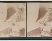 Infant Post Mortem stereoview photograph albumen 19th century 1800s