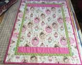 Dancing Girls Baby Girl Quilt, Newborn Blanket, Toddler Snuggle Quilt