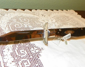 Vintage Case xx Knife1970'S 6111 1/2L Red Bone Pocket Cheetah Lock Back Floating Gaurd Foldng Hand Gaurd
