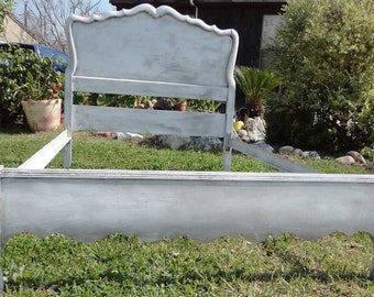vintage wood twin bed dixie carved hand painted shabby chic princess bed