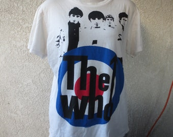 vintage t-shirt The Who band size medium color white