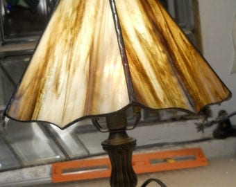 "Stained Glass Lamp Shade 11"" by 8"" Tall"