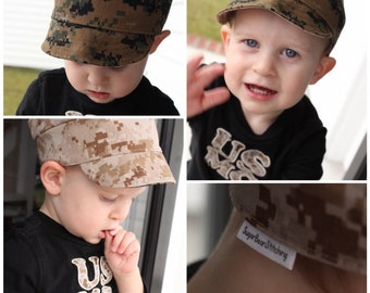 Reversible USMC Baby Cover. Desert AND Woodland Camo.